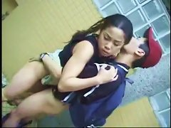 Amateur Asian Teen Couple Public Restroom