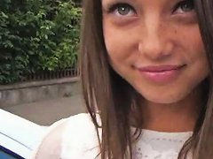 Pretty Brunette Teen Slut Foxy Di Ass Fucked In Public